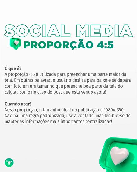 Social Media proporção 4:5